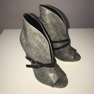 JustFab Shoes - Open Toed Ankle Boots