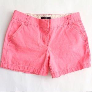 J. CREW Neon pink Chino Shorts