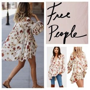 Free People Tops - Free People Just The Two Of Us Printed Tunic. NWT.