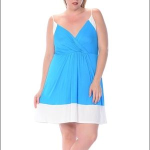 Bellino Clothing Dresses & Skirts - 🆕 Plus Color Block Sleeveless Gorgeous Dress