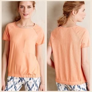 Anthropologie Tops - Anthropologie Orange Top With Pocket