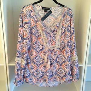 august silk Tops - August Silk Boho Top NWT