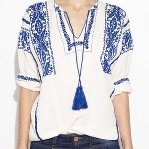Isabel Marant Tops - Isabel Marant Etoile Vince Embroidered Blouse
