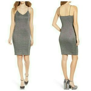 Leith Dresses & Skirts - Leith Metallic Shine Slip Dress NWT