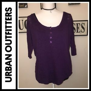 Urban Outfitters Tops - $5 SALE! Urban Outfitters purple burnout top