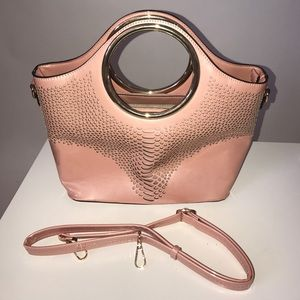 Handbags - Pink Purse with Gold accents