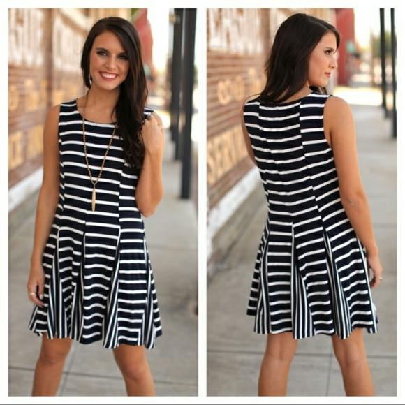 dc31880a9c NWT Navy   White Striped Dress
