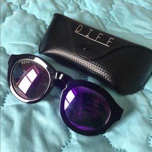 Diff Eyewear Accessories - DIFF Eyewear Purple Mirrored Lense Sunglasses