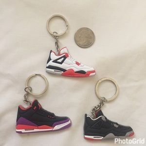 Other - NWOT Cool sneaker keychains 🏀🏀
