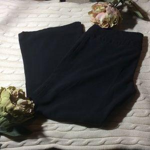 mandee Pants - Black boot cut dress pants