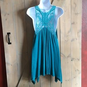 Shyanne Tops - Turquoise Racerback Tunic