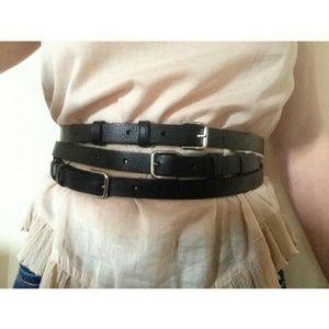 Maje Accessories - 🆕Maje Flaviana triple wrap black  leather belt