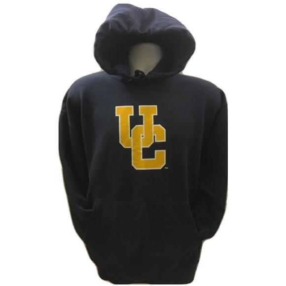 cbfbad56b7ca9 Hanes Other - HANES Comfort Blend Navy Gold UC Hoodie Sweatshirt
