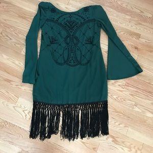 Nordstrom Dresses & Skirts - Green tassel detail dress