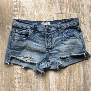 Free People Pants - •Free People• Light Wash Denim Shorts