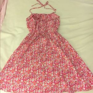 Liberty of London Dresses & Skirts - Pink Floral Halter Dress