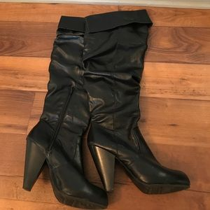 Unlisted Shoes - Unlisted Over the Knee Black Slouchy Boots Sz.8
