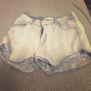 Garage Pants - Distressed High Waisted Denim Shorts
