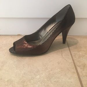A. Marinelli Shoes - A. Marinelli Peep Toe Pump Bronze