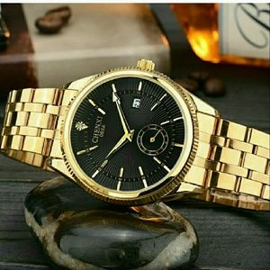 GOLD MEN LUXURY HIGH QUALITY WATCH