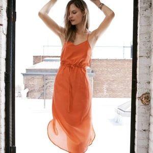 Madewell Silk Tie-Waist dress