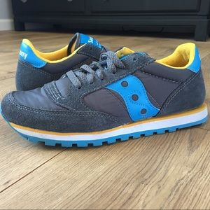 Saucony Shoes - SAUCONY 7.5 Original Jazz Low Pro Charcoal/Blue