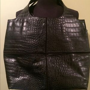 Raven Kauffman Bags - Raven Kauffman Couture Black Vegan Leather Bag