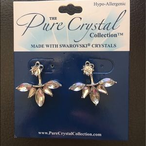 SWAROVSKI Crystal earrings- Fan design BRAND NEW