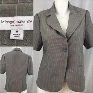 Liz Lange for Target Jackets & Blazers - 🌴Sz Medium Liz Lange Maternity Pinstriped Blazer