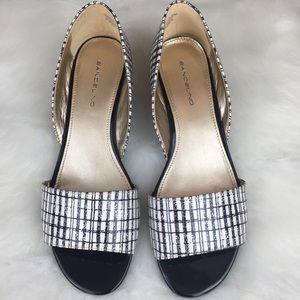 Bandolino Shoes - Bandolino black and white wedges