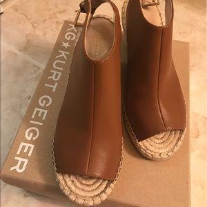 kurt geiger Shoes - KG Kurt Geiger Tan Leather Summer Open toe wedges