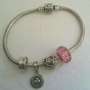 Chamilia Jewelry - Chamillia Charm Bracelet And 4 Charms