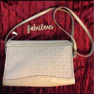 Pierre Cardin Handbags - Pierre Cardin tan canvas& leather vintage bag
