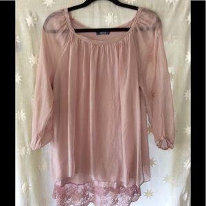 Giulia Tops - GIULIA L soft petal pink romantic shirt. Large