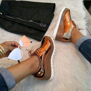 LAST PAIR!!//The Tracy// Bronze oxford platorms