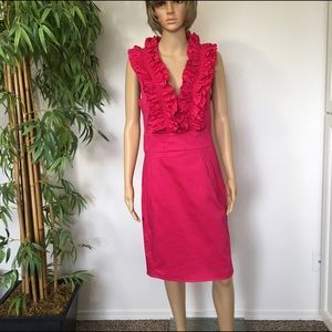 Ted Baker Dresses & Skirts - Ted Baker Hot Pink Ruffle Dress size 10