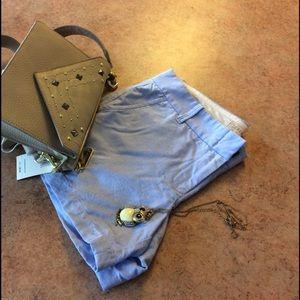 J. Crew Pants - Light blue J. Crew cotton shorts