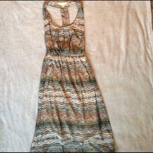 Staring at Stars Dresses & Skirts - T back High Low Chiffon Patterned Dress UO