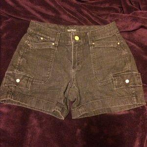 White House Black Market Black Denim Shorts