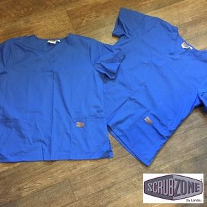 Landau Tops - Scrub Zone by Landau Royal Scrub Top Blue L