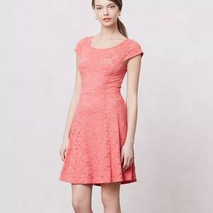 Anthropologie Dresses & Skirts - Anthropologie Maeve Pink Lace Dayflower Dress!