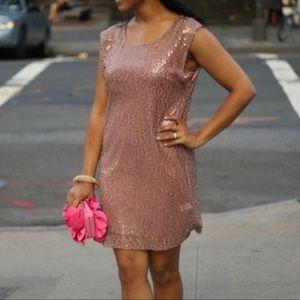 Sequin Midi Lauren Conrad Dress