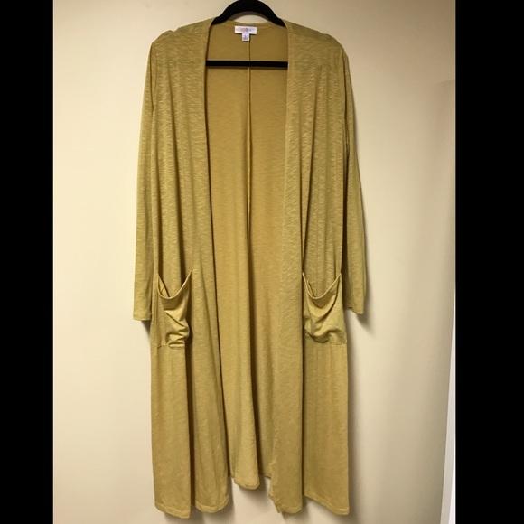36% off LuLaRoe Sweaters - LuLaRoe Sarah Cardigan L mustard yellow ...