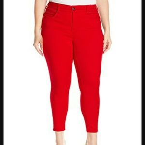 Melissa McCarthy Denim - Melissa McCarthy Red Pencil Jeans