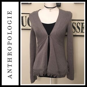 Anthropologie Sweaters - Anthropologie sparrow fringe cardigan