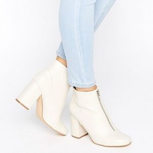 ASOS Shoes - New Look Zip Front Leather Look Ankle Boot