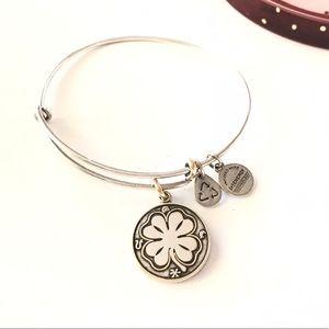Alex & Ani Jewelry - Alex and Ani Lucky Four Leaf Clover Bracelet