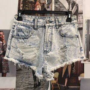Forever 21 Pants - Ripped acid wash shorts 25
