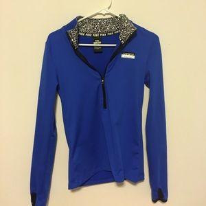 VS PINK, half zip sweatshirt (blue)