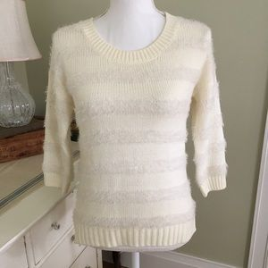 Red Camel Sweaters - Sale! Red Camel Ivory Stripe Knit Sweater